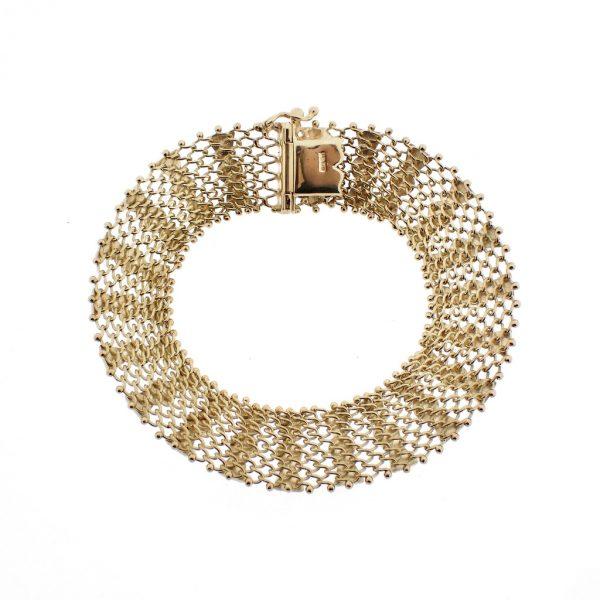 vintage gouden dames armband