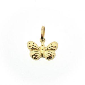 18 krt hanger vlinder