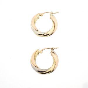 gouden oorringen tricolor