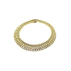 14 k gouden schakel armband
