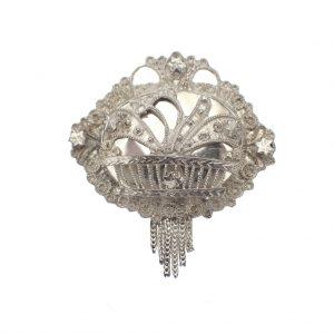 Zilveren filigrain broche