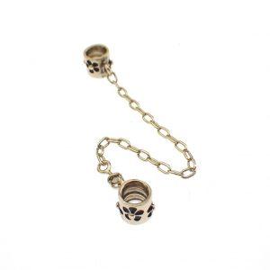 gouden pandora safety chain