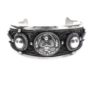 Etnische zilveren armband