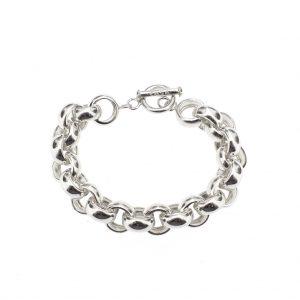Zilveren robuuste jasseron armband