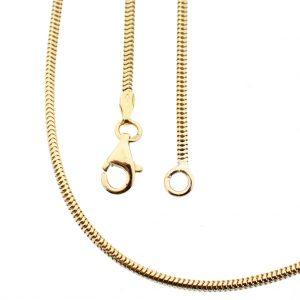 Gouden slangenschakel ketting