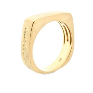 Robuuste gouden ring Marc O'Polo